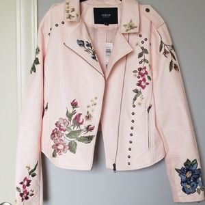 Torrid Embroidered and Studded Moto Jacket